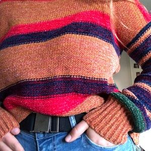 WOVEN MULTICOLOR SWEATER